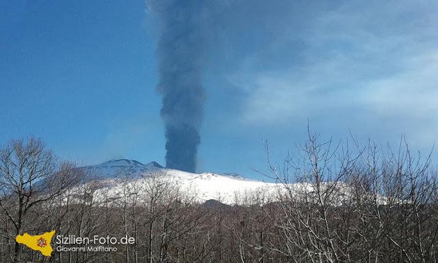 Vulkanausbruch Etna 18. März 2012
