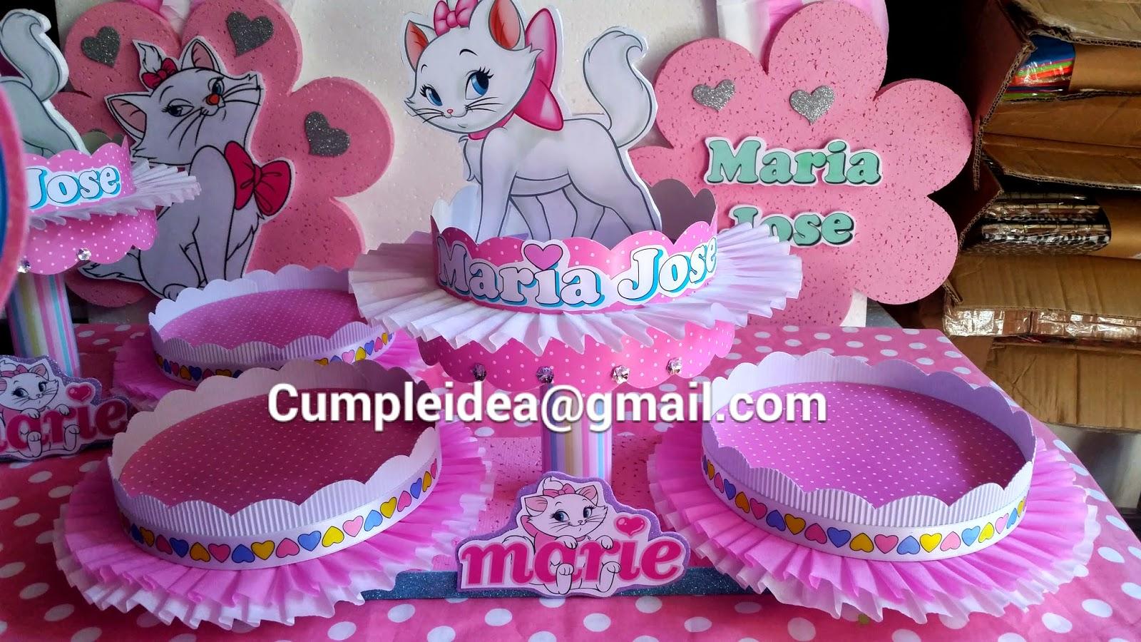 Decoraciones infantiles gatita marie - Decoraciones para cumpleanos infantiles ...