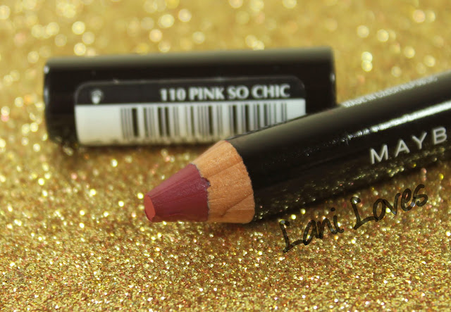 Maybelline Color Drama Lip Pencil - Pink So Chic Swatches & Review