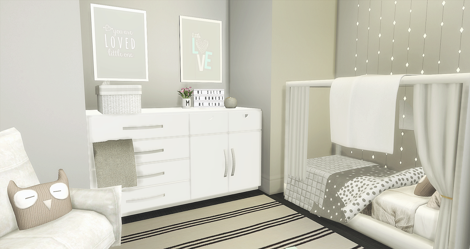 Amelia S Room Toddler Bedroom: L I N E Y S I M S: Unisex Toddlerroom