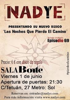 Nadye, nuevo, disco, Boite, Madrid, cartel, presentación, junio
