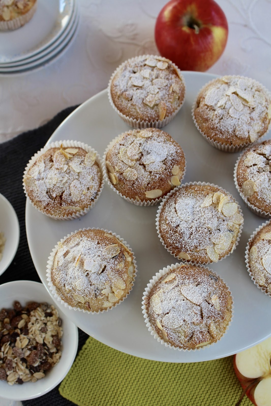 Apfel Schokoladen Müsli Muffins