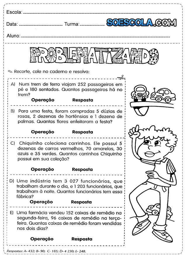 Atividades De Matematica Prontas Para Imprimir So Escola