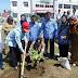 Semangat Penghijauan di Lapangan Gedung baru SMA Pembangunan