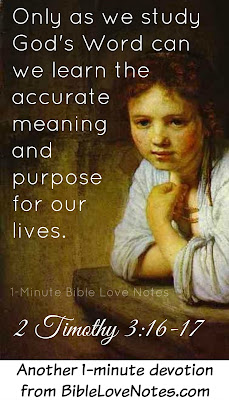 2 Timothy 3:16-17, God's Word reveals the purpose of life