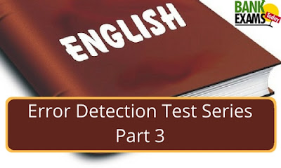 Error Detection Test Series: Part 3