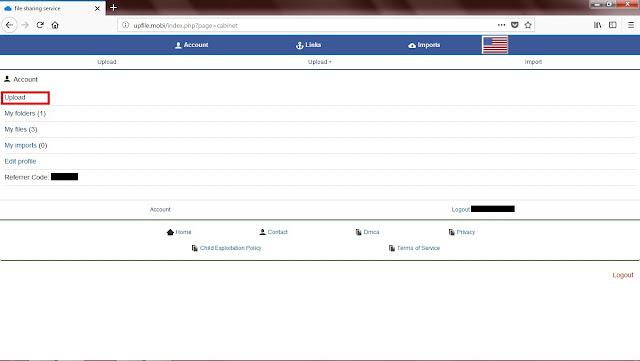 Untuk mengupload file, Sobat bisa langsung klik Upload