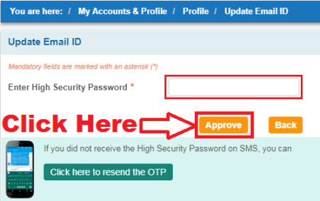 how to update email address in sbi
