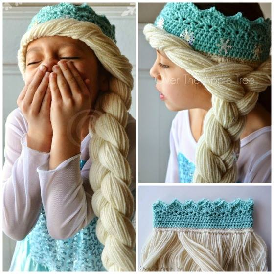 4a3f0cafe Crochet Elsa Crown With Hair ~ Idees And Solutions