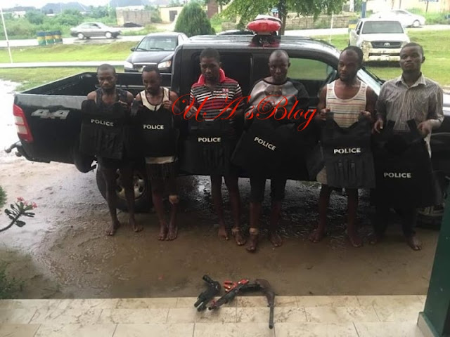 Notorious Armed Robbers Operating In Police Outfits In Rivers Apprehended by SARS (Photos)