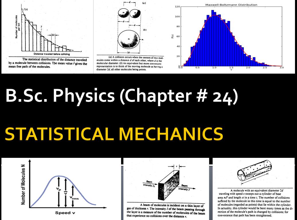 B Sc  Physics,STATISTICAL MECHANICS, Chapter 24 Notes of