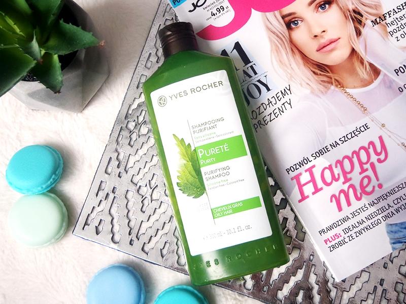 szampon pokrzywowy Yves Rocher, szampon oczyszczający Yves Rocher