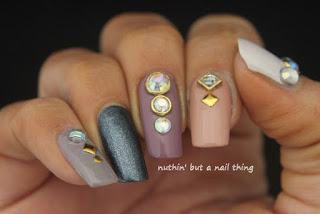 diamante nail art