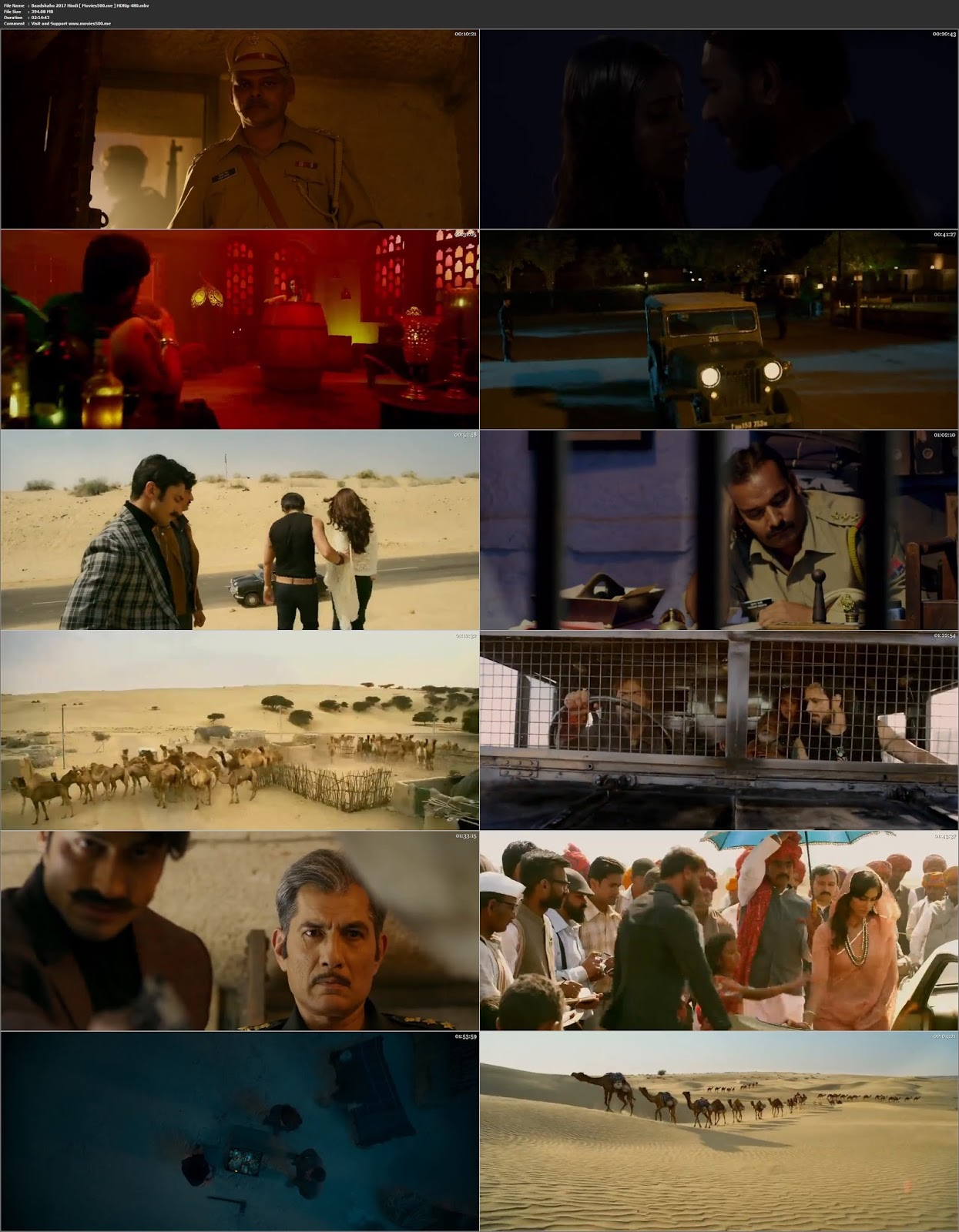 Baadshaho 2017 Bollywood 390MB HDRip 480p at movies500.info