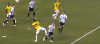 الأرجنتين وكولومبيا يتعادلان سلبياً فى مباراة ودية
