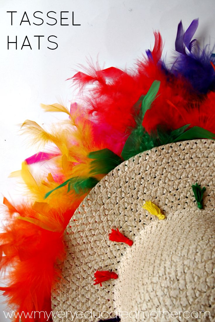 Dress up your summer wardrobe with a fun tassel hat! via @mvemother