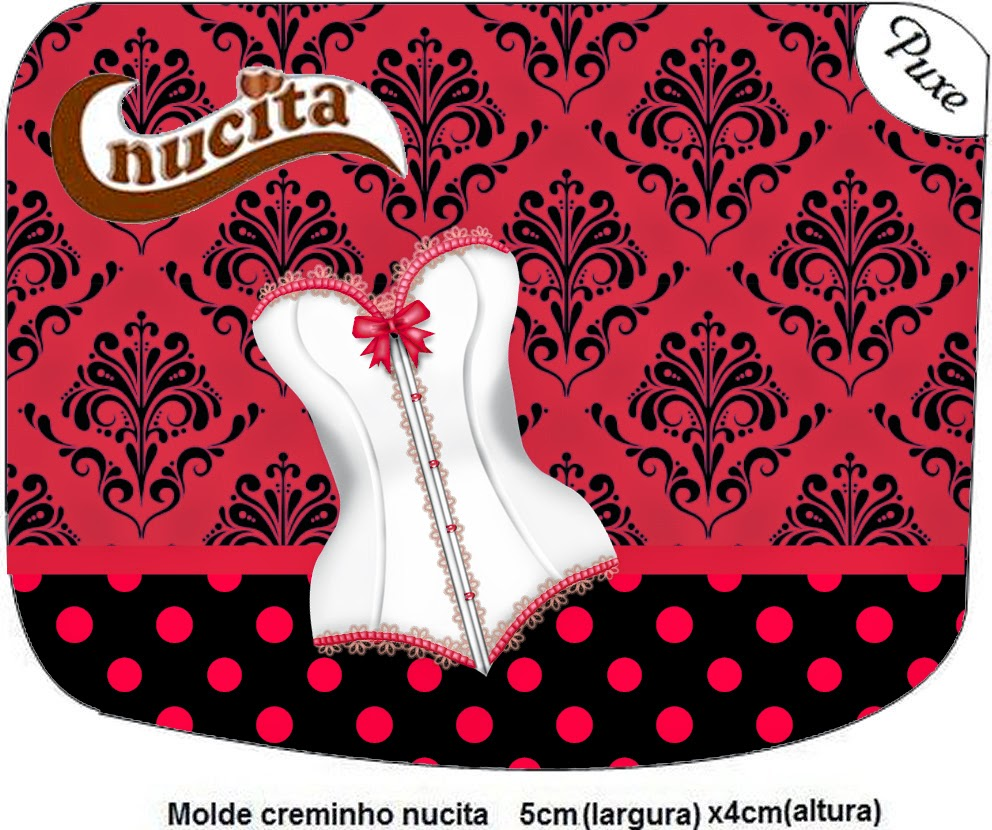 Free Printable of  Nucita  Candy Bar Labels for Lingerie.