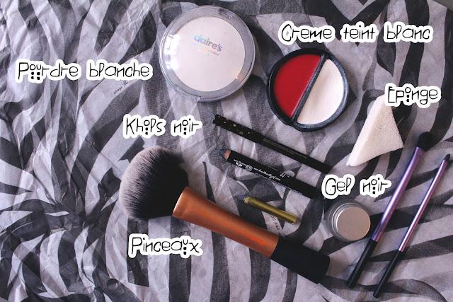 skull girl makeup, halloween makeup, claire's, red hair, blog, tuto, skull makeup, skull girl, enjoyk, se maquiller pour halloween, maquillage simple