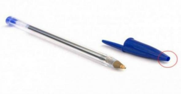 Γιατί τα καπάκια των στυλό έχουν τρύπα;