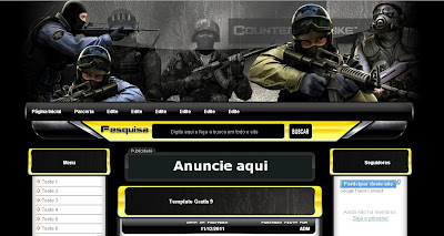 Template Counter Strike Editavel