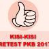 Kisi-Kisi Soal Pretest PKB (SIMPKB) 2017 - 2018 SD, SMP, SMA