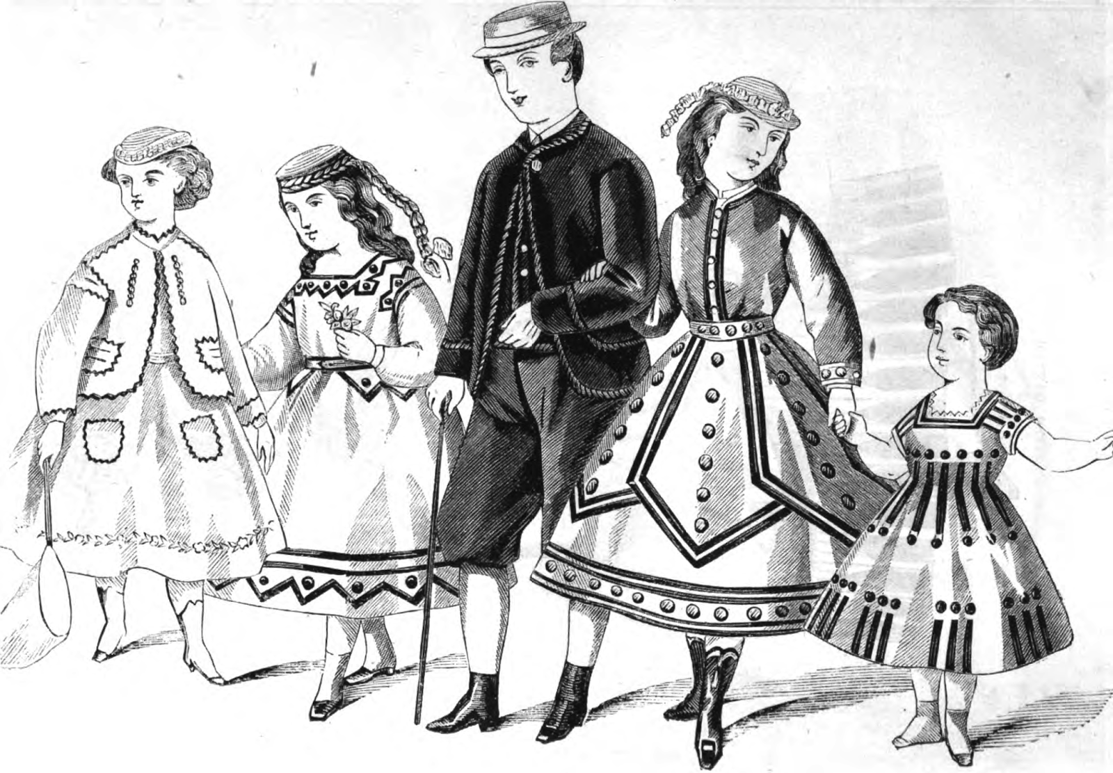 19th Century Historical Tidbits: 1867 Fashions