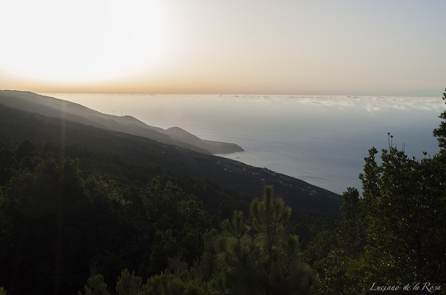 Vistas desde el mirador de las Mimbreras en la isla de La Palma, Canarias
