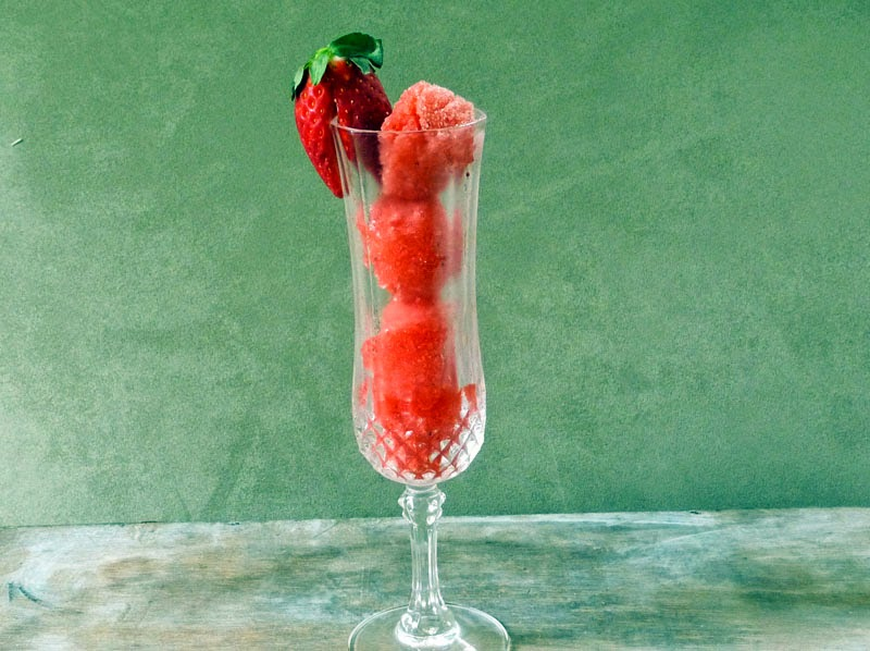 Champagne Sorbet | by Life Tastes Good #Strawberry #Holiday