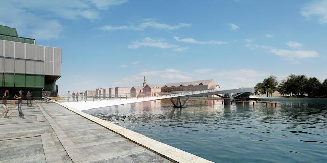 P Visualisering bro fra vest redigeret - The Bicycle Bridges of Copenhagen