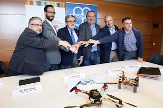 Signatura Conveni de Col.laboració entre LleidaDrone, Hemav i el Parc Científic de #Lleida