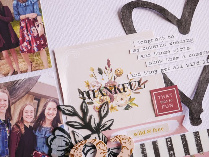 How To Create a Thankful Scrapbook Page by Jamie Pate | @jamiepate for @pinkpaislee