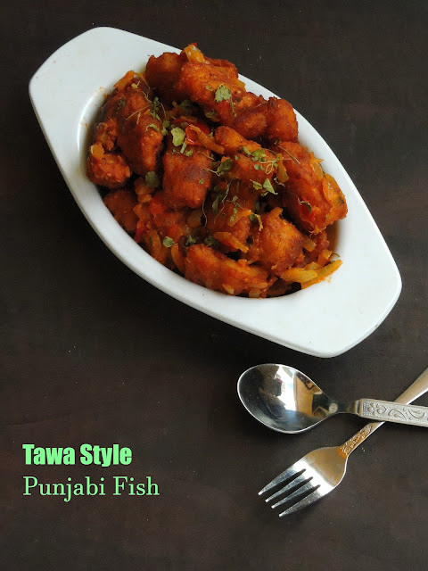 Tawa style punjabi fish, Machli Amritsari
