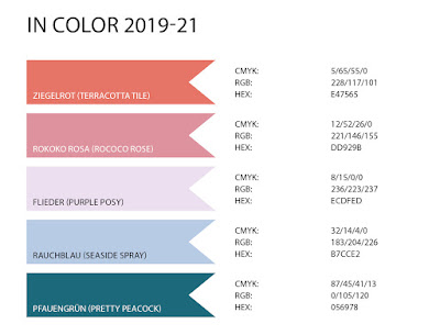 Stampin' Up! rosa Mädchen Kulmbach: Stampin' Up! Color Codes: RGB, HEX und CMYK aller bisherigen Farben