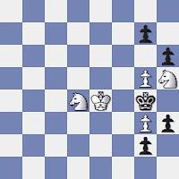 Estudio artístico de ajedrez de Johann Nepomuk Berger, Rigaer Tageblatt- 3er premio - 1909