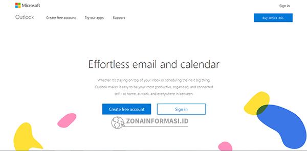 Buat email gratis di Outlook