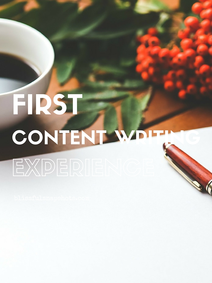 First Content Writing Experience
