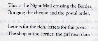 Night Mail Poem Stanza 1