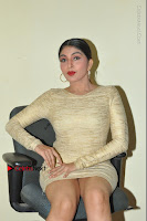 Actress Pooja Roshan Stills in Golden Short Dress at Box Movie Audio Launch  0067.JPG