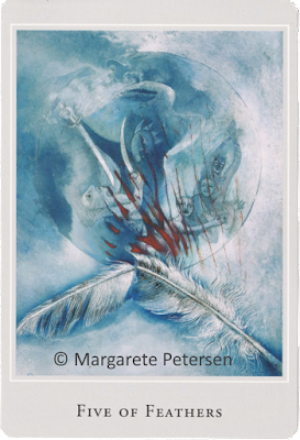 Five of Feathers Margarete Petersen Tarot