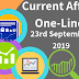 Current Affairs One-Liner: 23rd September 2019