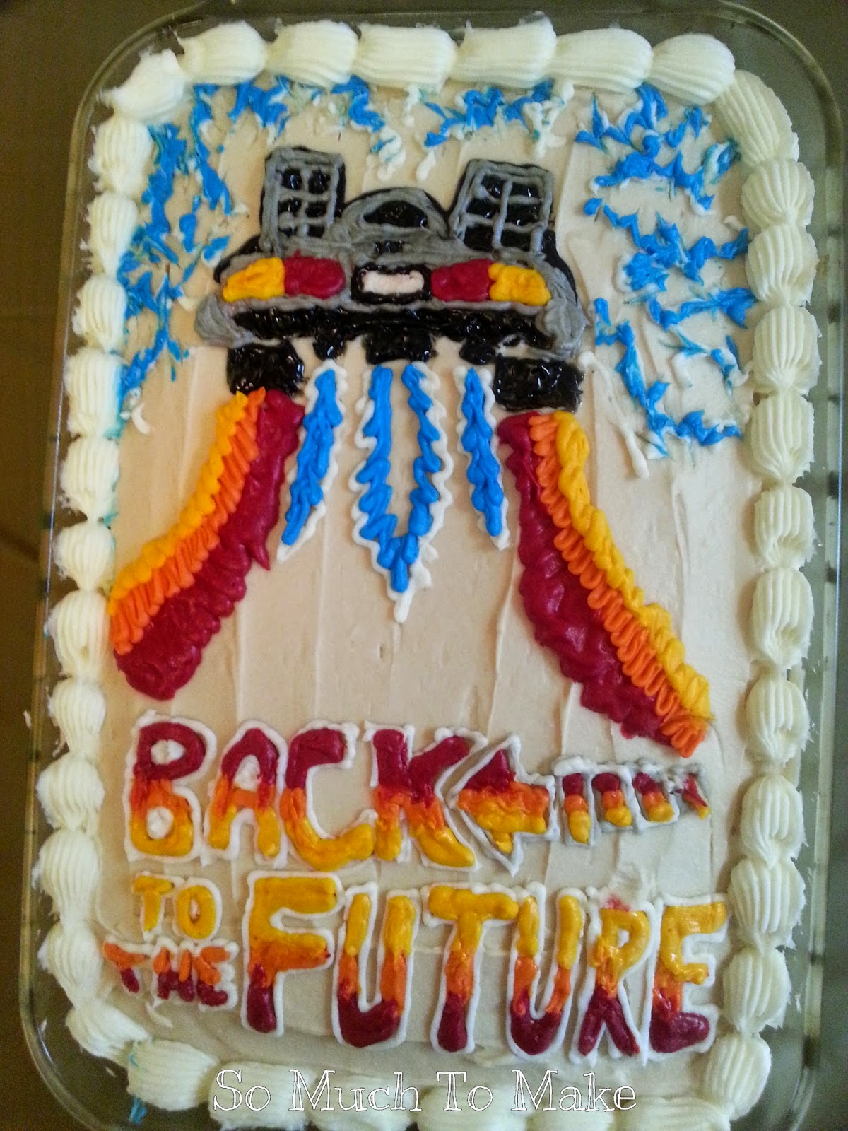 Back To the Future Cake, Decor, Decorations, Party, Food