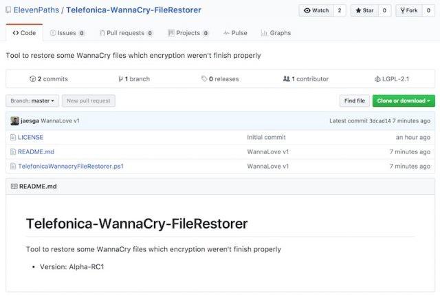 'WannaCry File Restore', la herramienta de Telefónica para recuperar archivos afectados por el ransomware,WannaCry File Restore,File Restore,WannaCry help,WannaCry, ransomware attack, ransomware attack news, ransomware attack help,recover the files affected by this ransomware attack
