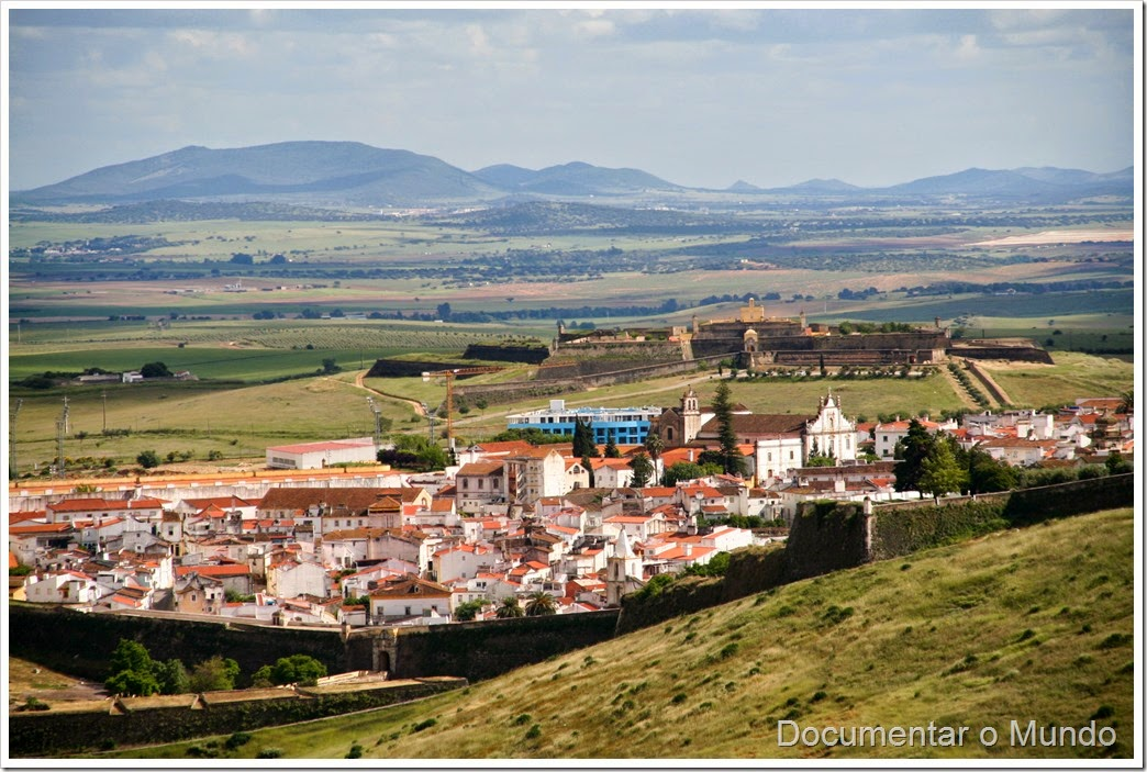 Forte da Graça; Serra da Nossa Senhora da Graça; Vista sobre a cidade de Elvas;