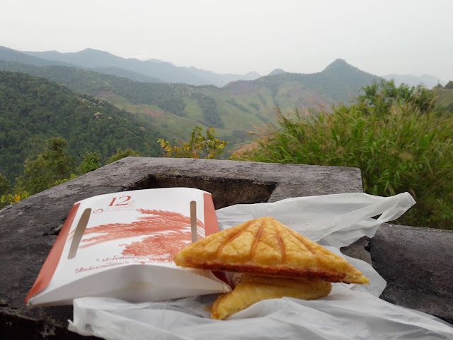 Breakfast at 1600m high in Nan - Thailand