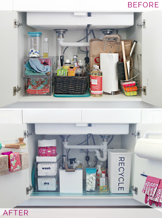 organize under the kitchen sink iheart organizing organizing the kitchen sink 7218
