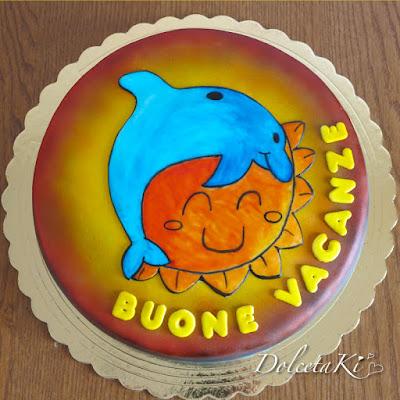 torta sole e delfino