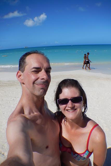 Dickenson Bay Antigua selfie