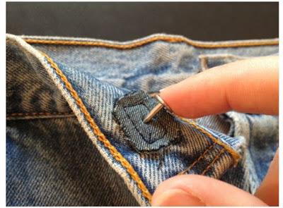 Cara Memperbaiki Kancing Logam  Jeans
