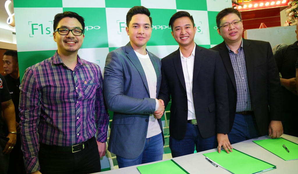 Alden Richards contract signing with OPPO