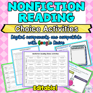 nonfiction, choice, reading calendar, independent reading